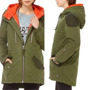 TNA Rosewell Hooded Utility Parka Puffer Coat Sz M